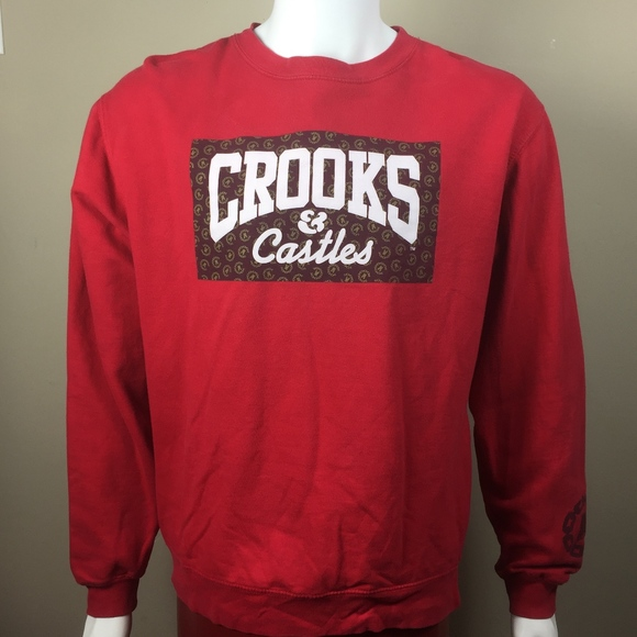 0931f865f42 crooks   castles Other - Crooks   Castles Large Crewneck Red